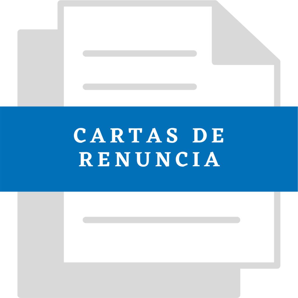 Formato Carta de Renuncia